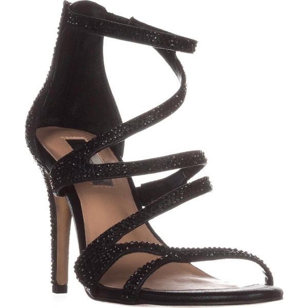 I35 Regann2 Strappy Evening Sandals, Black - 6 us