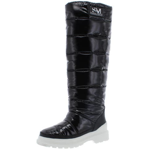 Sam Edelman Womens Camora Winter Boots Puffer Waterproof - Black Nylon