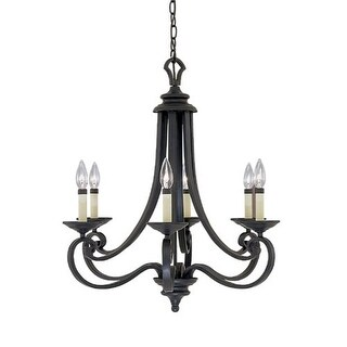Designers Fountain 9036-NI 6 Light Chandelier from the Barcelona Collection