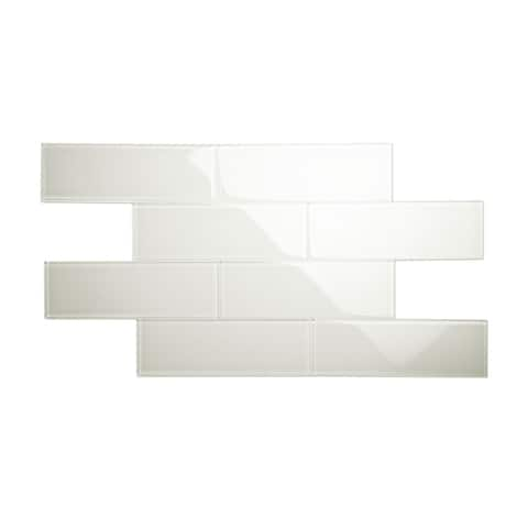Agreeable Gray 4x12 Glass Subway Tile