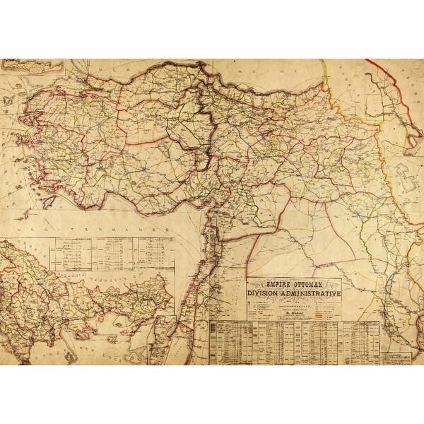 Turkey, Ottoman Empire - (1899) - Panoramic Map (Acrylic Serving Tray)