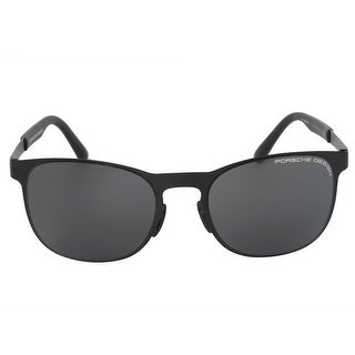 Porsche Design Design P8578 F 54 Square Sunglasses for Men Matte Black Titanium Frame Grey Lens