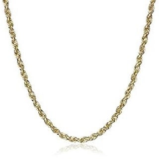 10k Yellow Gold 2.5mm D-cut Rope Chain Necklace Lobster Clasp By MidwestJewellery