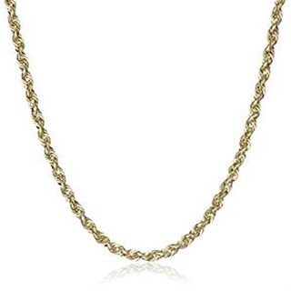 10k Yellow Gold 2.5mm Solid Rope Chain Necklace Lobster Clasp By MidwestJewellery