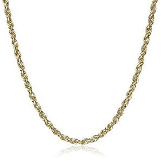 10k Yellow Gold 4mm D-cut Rope Chain Necklace Lobster Clasp By MidwestJewellery