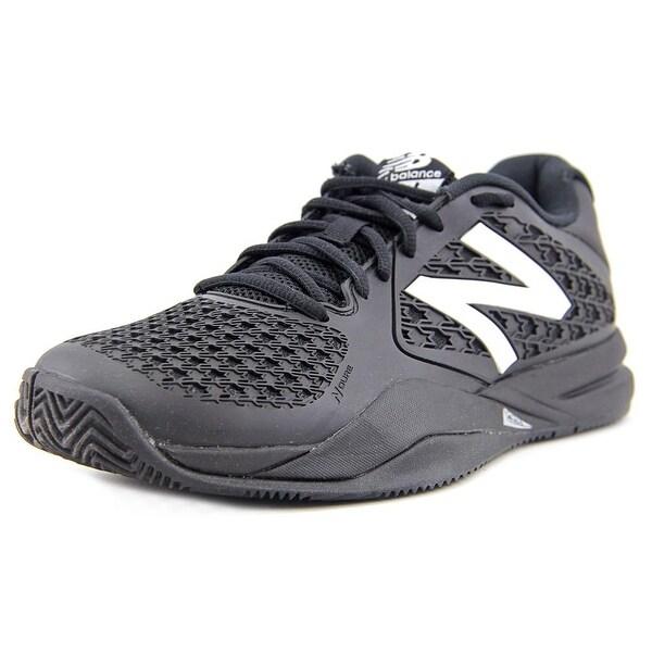 New Balance MC696YG2 Men 2E Round Toe Synthetic Black Tennis Shoe