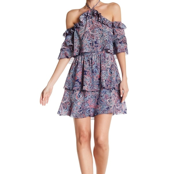 Parker Silk Women Lorenzo Cold Shoulder Floral Dress