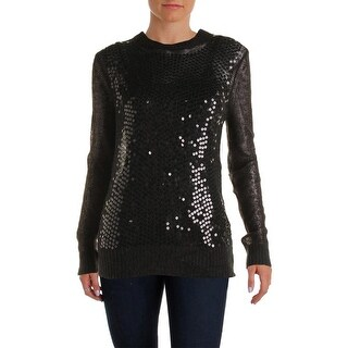 MICHAEL Michael Kors Womens Wool Blend Sequined Pullover Sweater