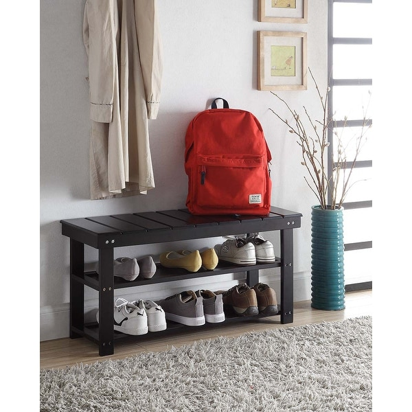 Copper Grove Cranesbill Mudroom Shoe Storage Bench. Opens flyout.