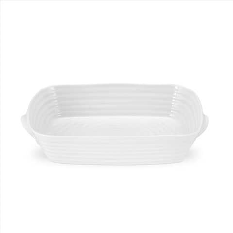 Portmeirion Sophie Conran Small Handled Rectangular Roasting Dish - 10.75 inch x 8 inch, 2.5 pint