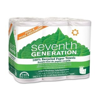 Seventh Generation Paper Towels, White - (Case of 4 - 6 sht)