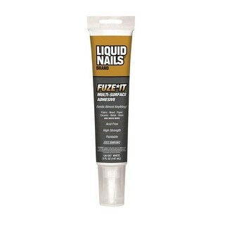 Liquid Nails LN-547 Fuze It Multi-Surface Construction Adhesive, White, 5 Oz