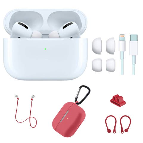 Apple AirPod Pro with Red Silicone Accessories