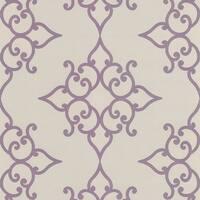 Brewster DL30609 Sebastian Purple Crepe Moroccan Medallion Wallpaper - purple crepe medallion