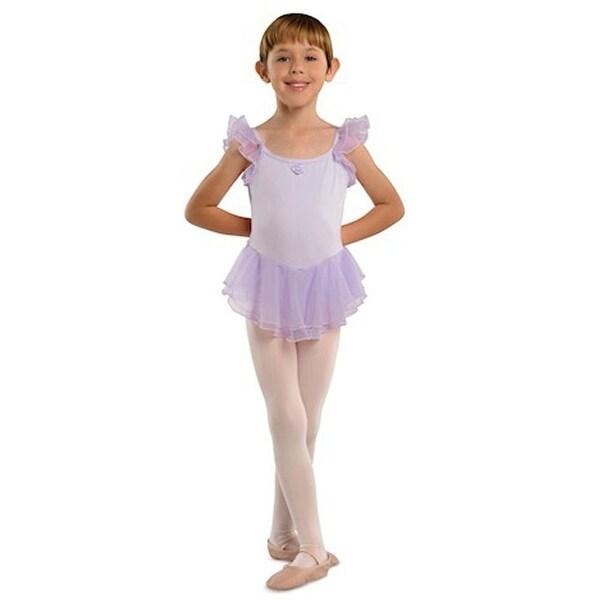 ae2a7e3b8433 Shop Danshuz Lavender Flutter Sleeve Ballet Dance Dress Little Girls 2T-10  - Free Shipping On Orders Over $45 - Overstock - 18120509