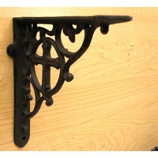 Heavy Cast Iron Cross Shelf Bracket Set of 2