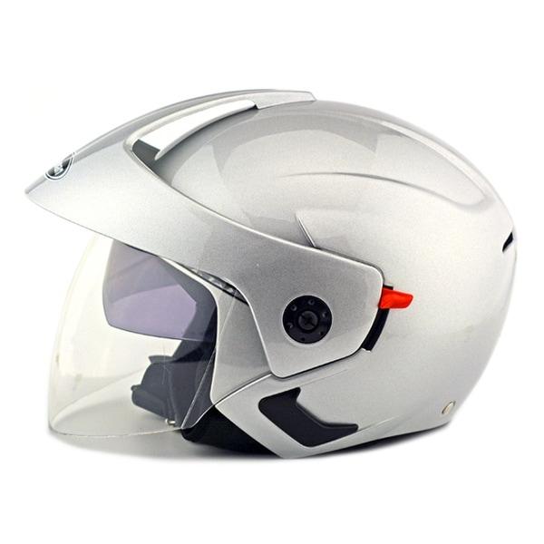 Motorcycle Motor Bike Scooter Safety Helmet 205 - Silver