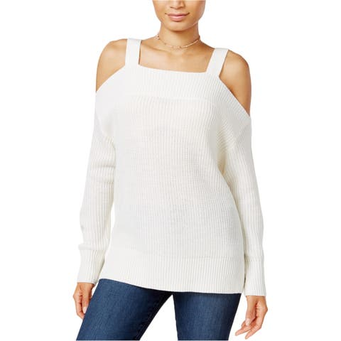 Sanctuary Clothing Womens Amelie Cold Shoulder Pullover Sweater