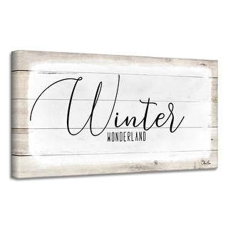 Link to Ready2HangArt 'Winter Wonderland' Holiday Canvas Wall Art by Olivia Rose Similar Items in Christmas Decorations