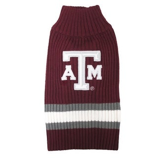 Texas A&M University Knitted Turtleneck Pet Sweater