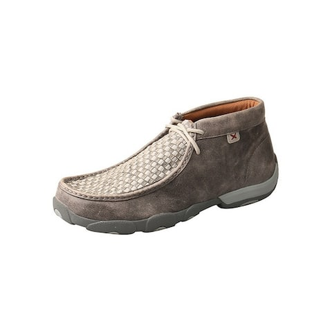 Twisted X Casual Shoes Mens Driving Moc Non Slip Checker Gray