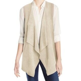 Calvin Klein NEW Beige Women's Size Large L Vest Sleeveless Sweater