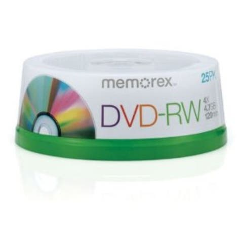 Memorex DVD-RW, 4.7GB, Branded, 4x, 25pk Spindle