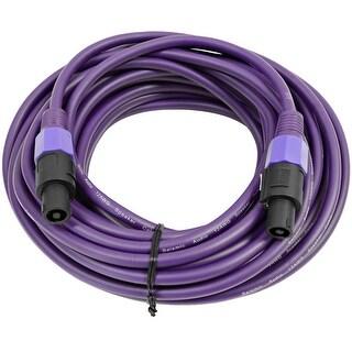 SEISMIC AUDIO 12 Gauge 50 Foot Purple Speakon to Speakon Speaker Cable 50'