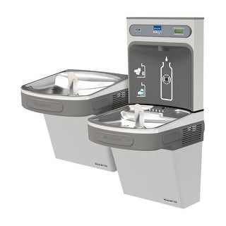 Elkay EZSTL8WSSK EZH2O Versatile Bi-Level Water Drinking Fountain and Bottle Filling Station