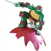 "3.75"" Carlton Cards Heirloom Teenage Mutant Ninja Turtles Raphael Christmas Ornament"