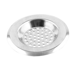 Unique BargainsBathroom Round Metal Sink Basin Garbage Strainer Stopper 3.4cm Internal Dia