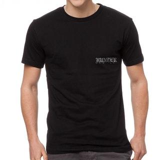 Hunter Your Olde Enlglish Name Men's Black T-shirt