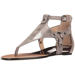 73ec270847b Shop Vince Camuto Womens Averie Leather Split Toe Casual T-Strap Sandals -  Free Shipping Today - Overstock - 20715516