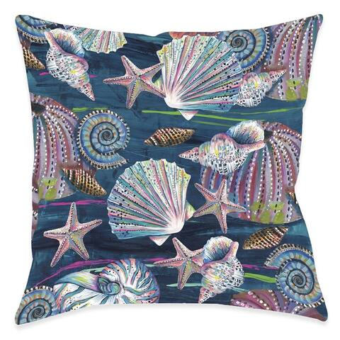 Jewels of the Sea Outdoor Pillow