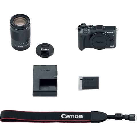 Canon EOS M6 Mirrorless Digital Camera with 18-150mm Lens (Black) (International Model)
