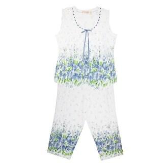 La Cera Women's Cotton Floral Pajama Set - Multi