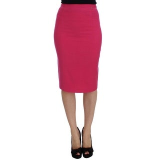 Galliano Pink Wool Stretch Pencil Skirt - it40-s
