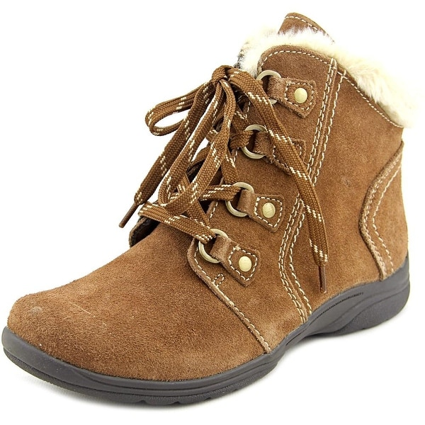Crowley Women Round Toe Suede Tan Ankle Boot