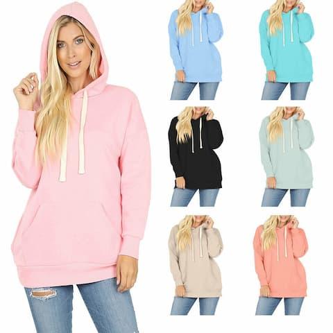NioBe Clothing Women's Basic Oversized Hooded Pullover Sweatshirt