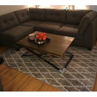 Abbyson Maddox 5 Piece Modular Fabric Sectional