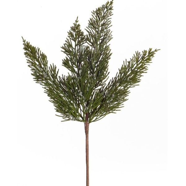"Club Pack of 24 Decorative Indoor Christmas Artificial Icy Pine Pick 14""H"