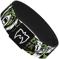 Ultimate Warrior Pose Face Black Green White Pink Elastic Bracelet
