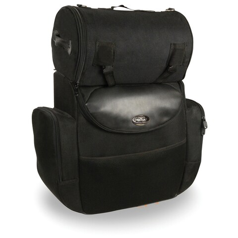 Large Nylon Motorcycle Sissy Bar Bag 14.5X16X7