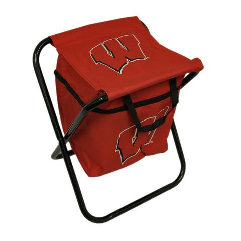 University of Wisconsin Badgers Logo Portable Folding Cooler Seat - 19 X 14 X 13.25 inches