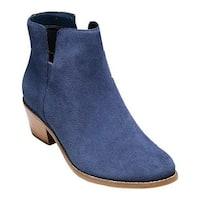 Cole Haan Women's Abbot Bootie Blazer Blue Suede
