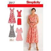 20W - 28W - Simplicity Misses'/Women's Dress In Two