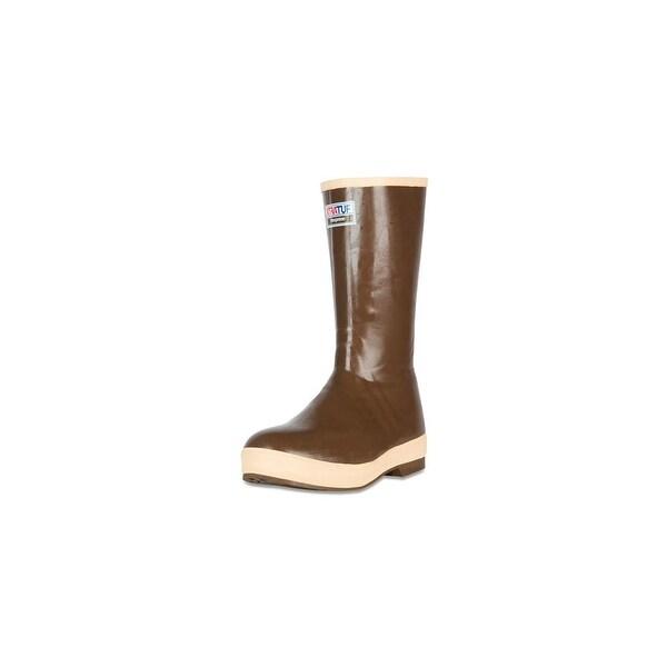 "Xtratuf Legacy Men's 15"" Steel Toe Insulated Fishing Tan Boots w/ Chevron Outsole - Size 11"