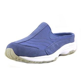 Easy Spirit Traveltime Women Round Toe Suede Blue Mules