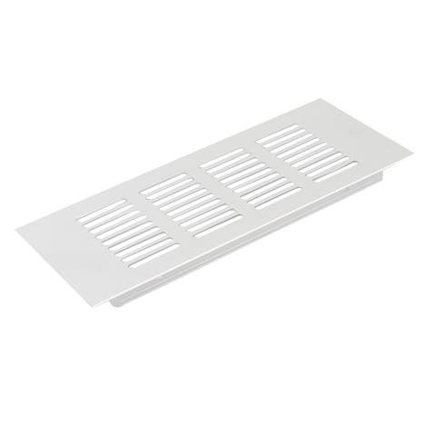 20cm x 8cm Silver Tone Rectangular Design Portable Mesh Hole Air Vent Louver