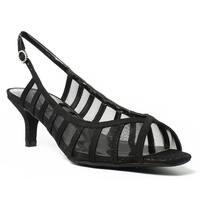J. Renee Womens Rebeka-Dgblk-001 Black Open Toe Heels Size 8